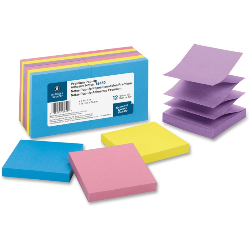 Business Source Pop-up Adhesive Note 16450 BSN16450