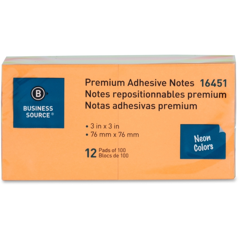 Business Source Adhesive Note Pad 16451 BSN16451