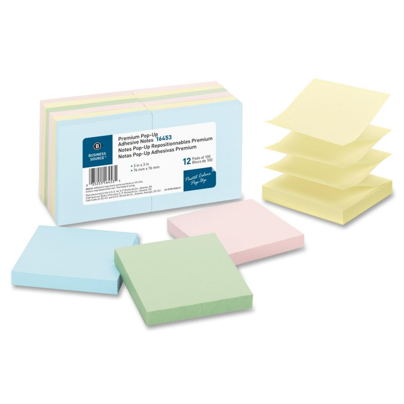 Business Source Pop-up Adhesive Note 16453 BSN16453