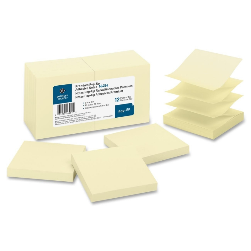 Business Source Pop-up Adhesive Note 16454 BSN16454