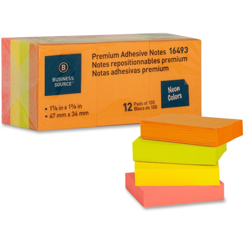 Business Source Adhesive Note 16493 BSN16493