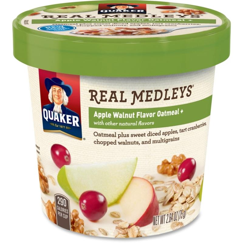 Quaker Oats Real Medleys Apple Walnut Oatmeal 31550 QKR31550