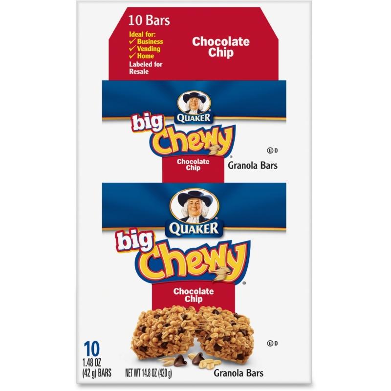 Quaker Oats Chocolate Chip Big Chewy Granola Bar 31565 QKR31565