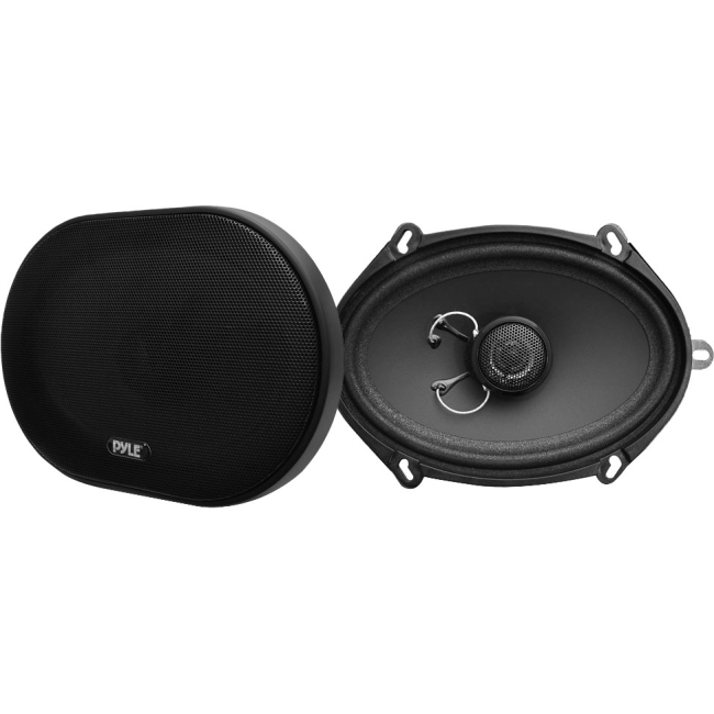 Pyle 5'' x 7'' / 6'' x 8'' 180 Watt Slim Mount Two-Way Coaxial Speakers (Pair) PLSL5702