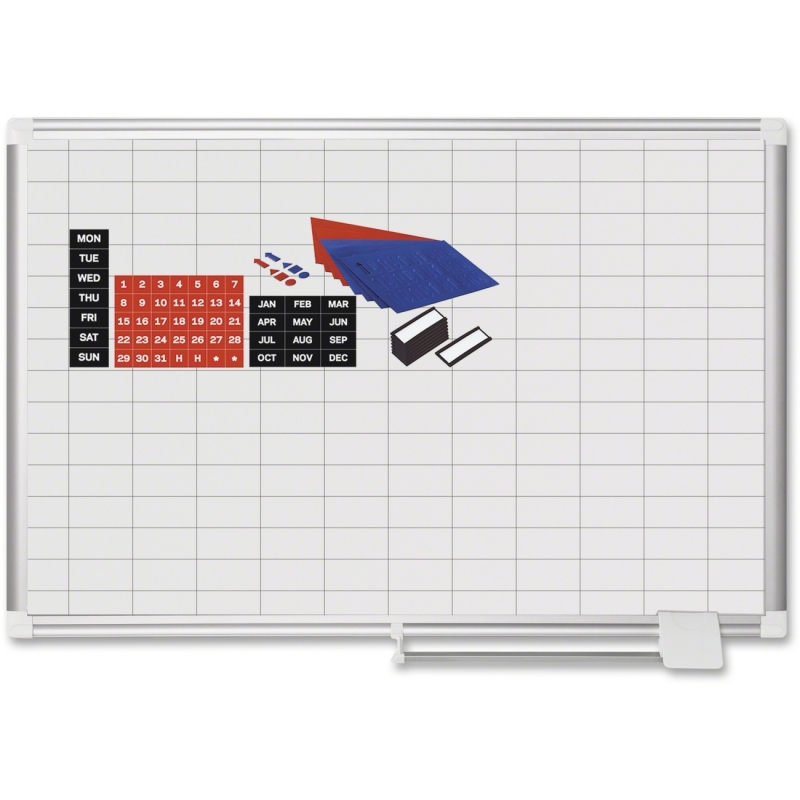 "MasterVision 1"" x 2"" Grid Gold Ultra Magnetic Steel with Kit MA0392830A BVCMA0392830A"
