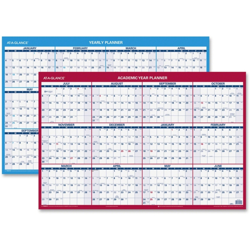 At-A-Glance 2-sided Horizontal Erase Wall Planner PM200S28 AAGPM200S28