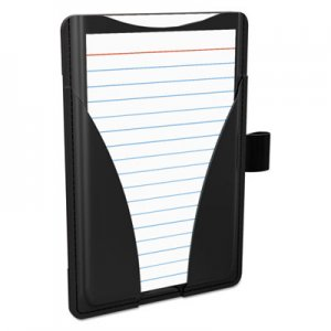 Oxford At Hand Note Card Case, 25 Capacity, 3 3/4d x 5 1/2w, Black OXF63519 63519