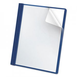 Oxford Premium Paper Clear Front Cover, 3 Fasteners, Letter, Light Blue, 25/Box OXF58801 58801EE