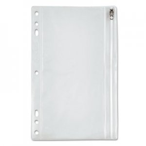 Oxford Zippered Ring Binder Pocket, 9 1/2 x 6, Clear OXF68599 68599