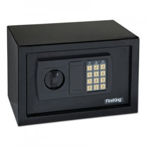 FireKing Personal Safe, 0.3 ft3, 12-1/4w x 7-3/4d x 7-3/4h, Light Gray FIRHS1207