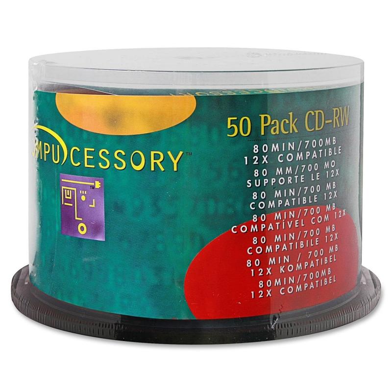 Compucessory 12x CD-RW Media 72102 CCS72102