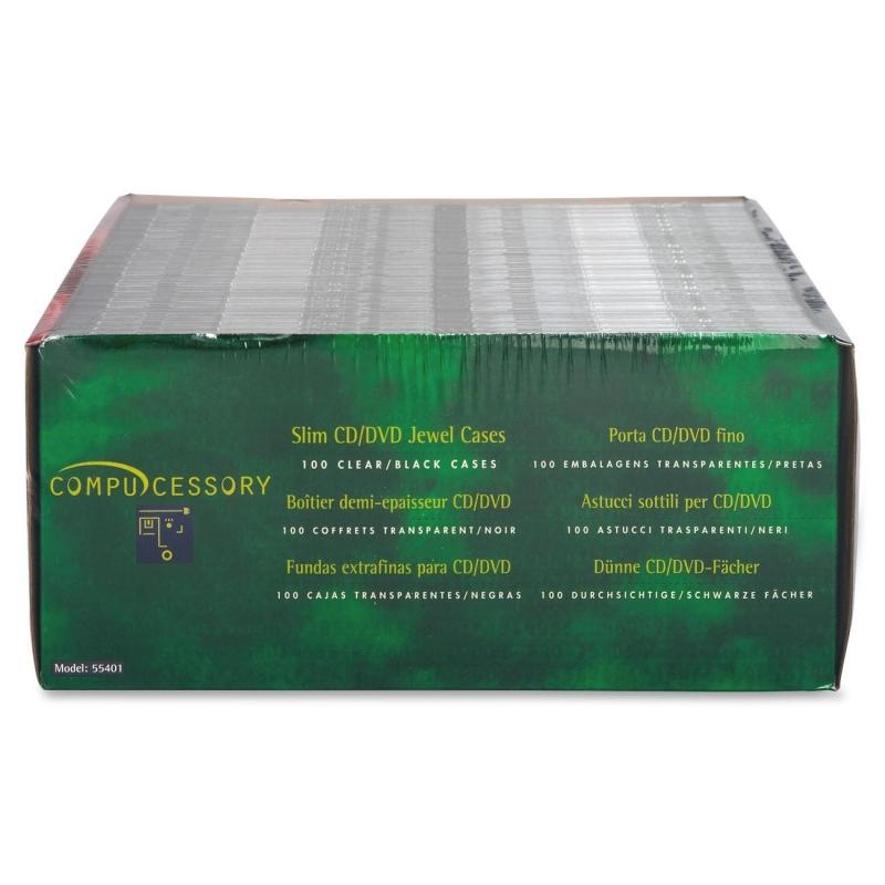 Compucessory Thin CD/DVD Jewel Case 55401 CCS55401