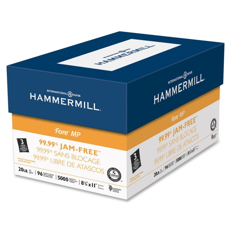 Hammermill Jam-Free 3-Hole Punched Fore DP Paper 103275 HAM103275
