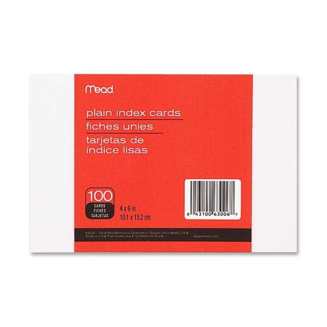 Mead Plain Index Card 63006 MEA63006