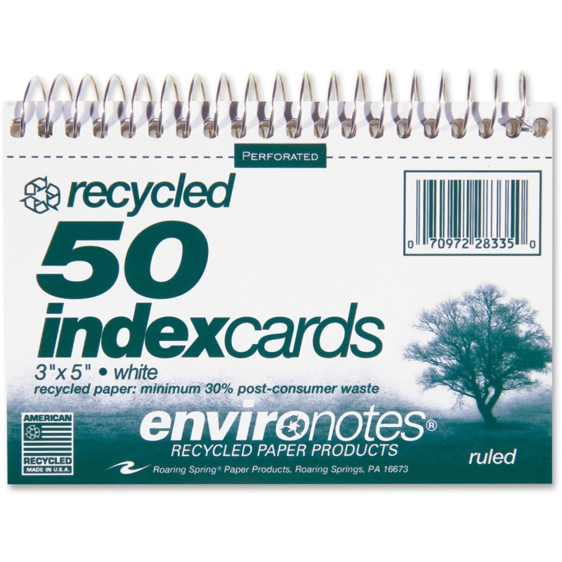Roaring Spring Spiralbound Ruled Index Cards 28335 ROA28335