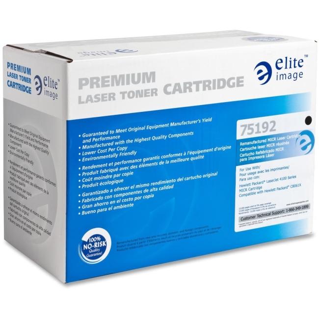 Elite Image Remanufactured MICR Toner Cartridge Alternative For HP 61X (C8061X) 75192 ELI75192