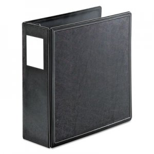 "Cardinal SuperLife Easy Open Locking Slant-D Ring Binder, 3 Rings, 4"" Capacity, 11 x 8.5, Black CRD14042 14042CB"