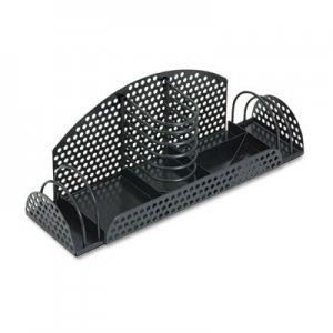 Fellowes Perf-Ect Multi Desk Organizer, Metal/Wire, 12 7/8 x 4 x 4 3/4, Black FEL22326 22326
