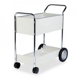 Fellowes Steel Mail Cart, 150-Folder Capacity, 20w x 40.5d x 39h, Dove Gray FEL40922 40922
