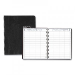 House of Doolittle Eight-Person Group Practice Daily Appointment Book, 11 x 8 1/2, Black, 2020 HOD28102 281-02