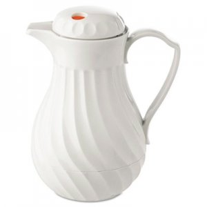 Hormel Poly Lined Carafe, Swirl Design, 64oz Capacity, White HOR402264 4022-64