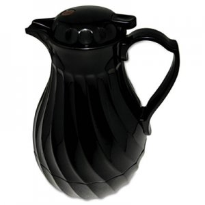 Hormel Poly Lined Carafe, Swirl Design, 40oz Capacity, Black HOR4022B 4022B