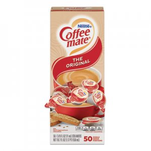 Coffee mate Liquid Coffee Creamer, Original, 0.38 oz Mini Cups, 50/Box NES35110BX 35110