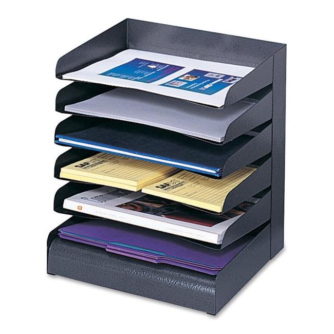 Safco Letter-Size Desk Tray Sorter 3128BL SAF3128BL