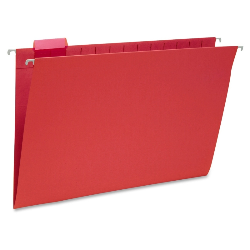 Smead Red Colored Hanging Folders with Tabs 64167 SMD64167