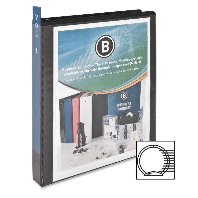 Business Source Round Ring View Binder 09952 BSN09952