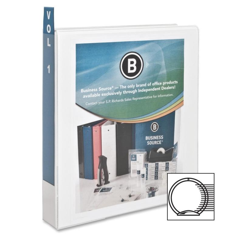 Business Source Round Ring View Binder 09955 BSN09955
