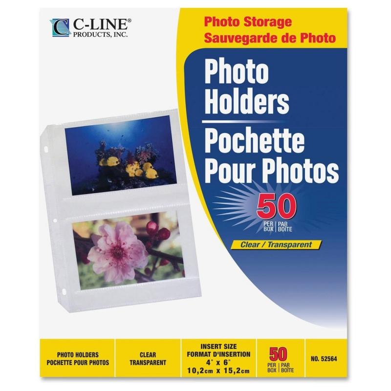 C-Line 3-Hole Polypropylene Photo Protector 52564 CLI52564
