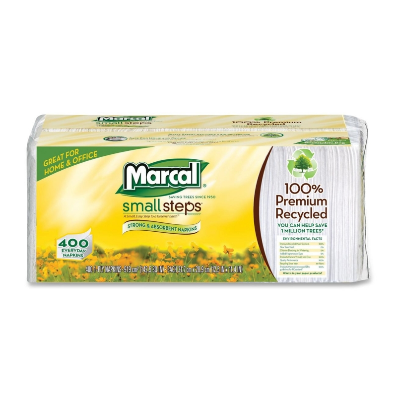 Marcal Small Steps Recycled Luncheon Napkin 6506CT MRC6506CT