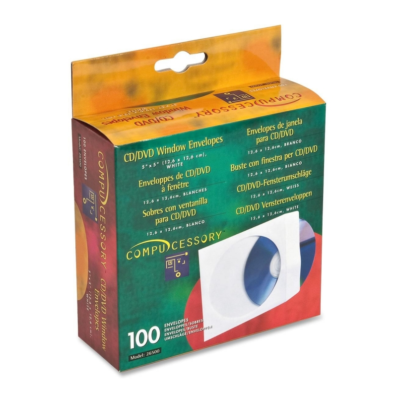 Compucessory CD/DVD Window Envelopes 26500 CCS26500
