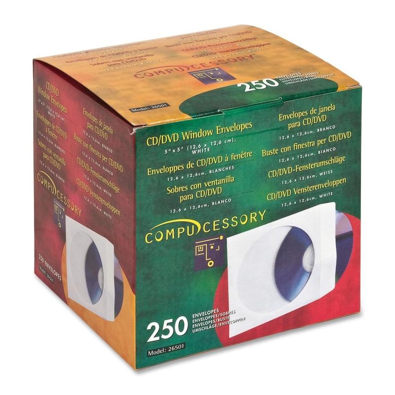 Compucessory CD/DVD Window Envelopes 26501 CCS26501