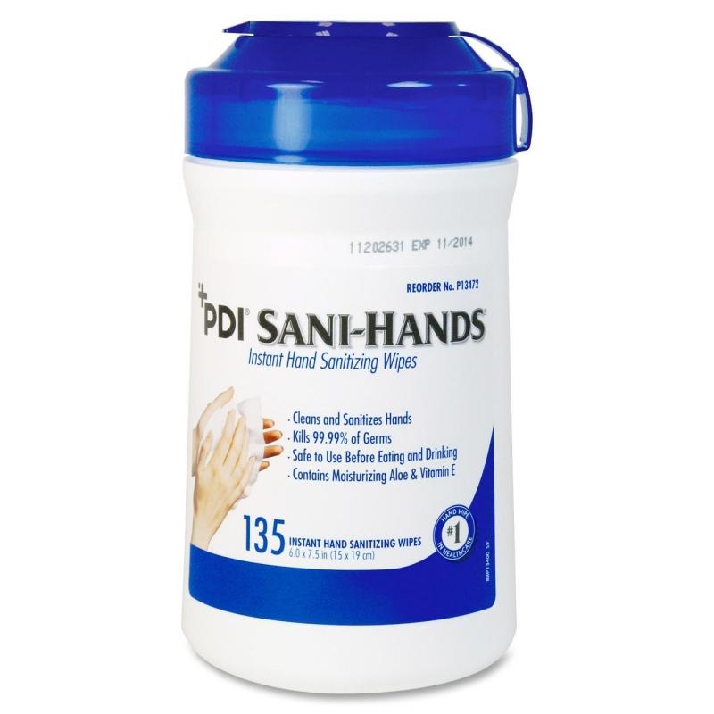 Sani-Hands ALC Sani-Hands ALC Disinfectant Hand Sanitizing Wipe PSAL077472 NICPSAL077472