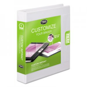 "Wilson Jones Custom Imprint Presentation Binder, 3 Rings, 1"" Capacity, 11 x 8.5, White WLJ46101 W46101A"