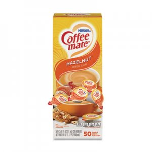 Coffee mate Liquid Coffee Creamer, Hazelnut, 0.38 oz Mini Cups, 50/Box NES35180BX 005000035180
