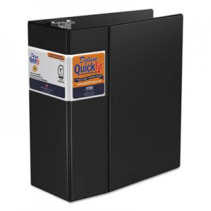 "Stride QuickFit D-Ring Binder, 3 Rings, 5"" Capacity, 11 x 8.5, Black STW29071 29071"