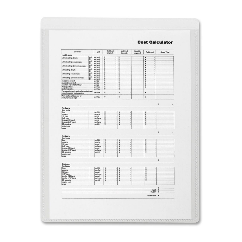 Business Source Self-Adhesive Shop Ticket Holder 16466 BSN16466