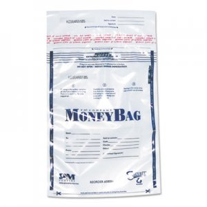 SecurIT Tamper-Evident Deposit Bags, 12 x 16, Plastic, Clear, 100 per Pack ICX94190070 94190070