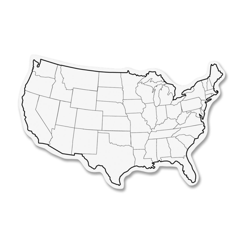 ChenilleKraft 2-Sided USA Map Whiteboard 987910 CKC987910