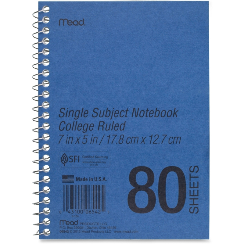 Mead Mead Mid Tier Single Subject Notebook 06542 MEA06542