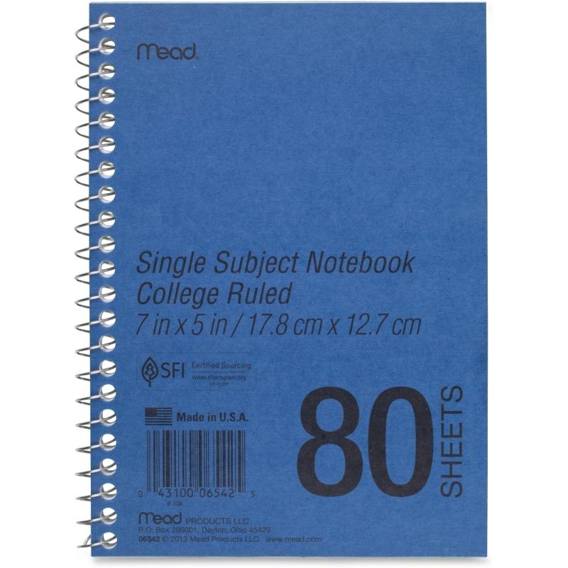 Mead Mead Mid Tier Single Subject Notebook 06542 MEA06542