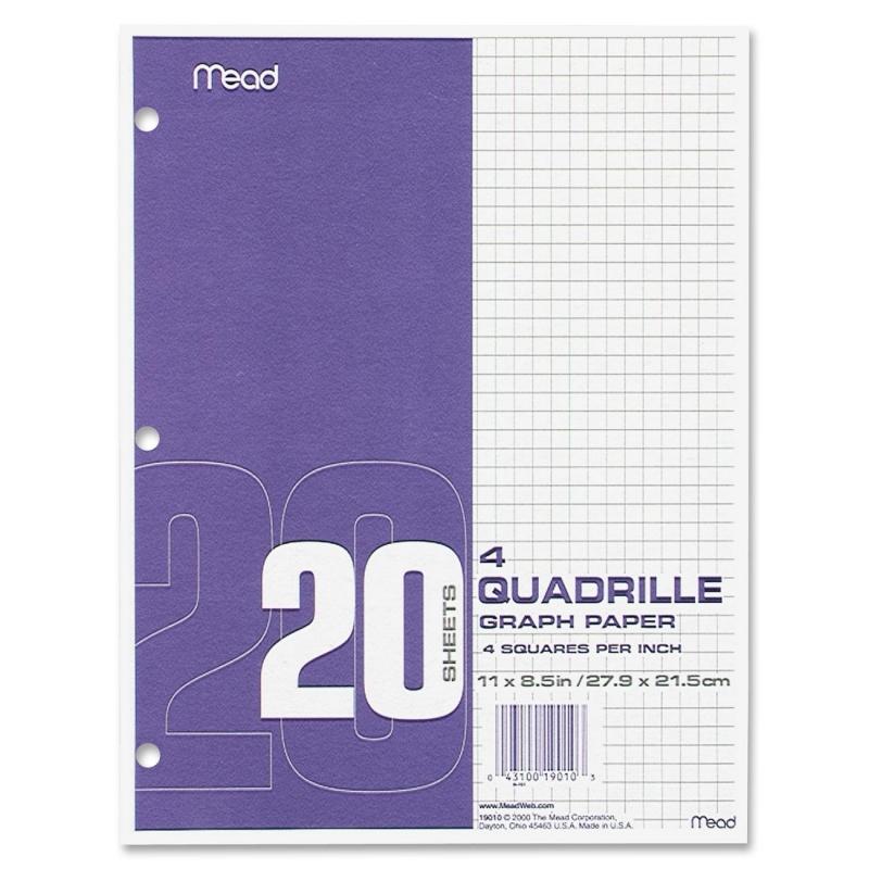 Mead Mead Paper Filler Quad Rule 19010 MEA19010