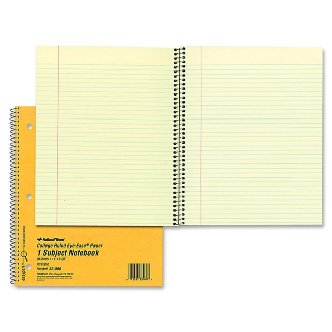Rediform College Ruled Brown Board Cvr Notebook 33068 RED33068