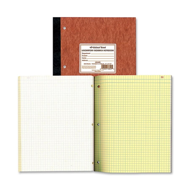 Rediform Rediform National Laboratory Research Notebook 43649 RED43649