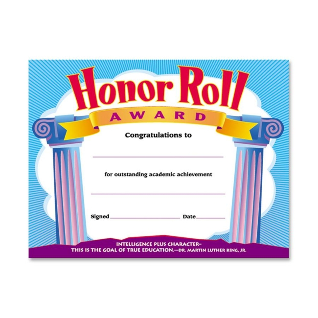 Trend Trend Honor Roll Award Certificate T2959 TEPT2959