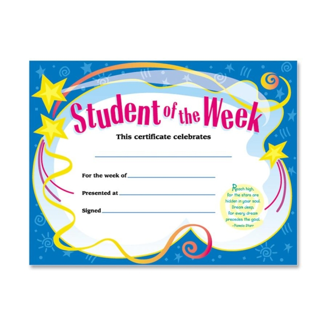 Trend Trend Student of The Week Certificate T2960 TEPT2960