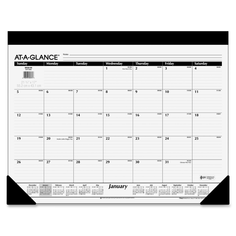 At-A-Glance At-A-Glance Refillable Desk Pad Calendar SK22-00 AAGSK2200